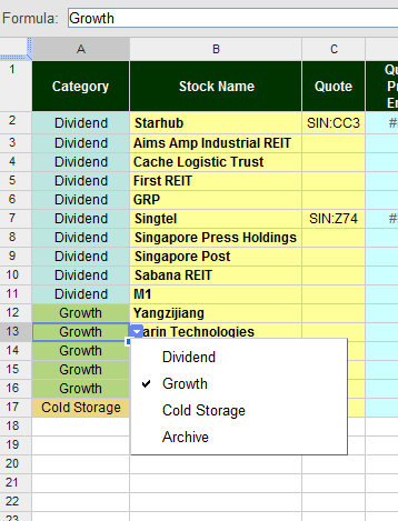 Free Online Investment Stock Portfolio Tracker Spreadsheet category%20dropdown