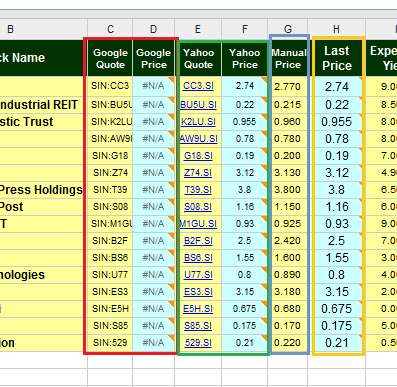 Free Online Investment Stock Portfolio Tracker Spreadsheet quotes